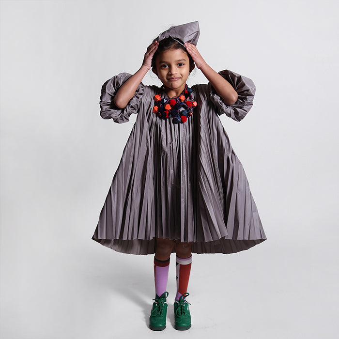 Tia Cibani Kids Child Genoveva Pleated Dress