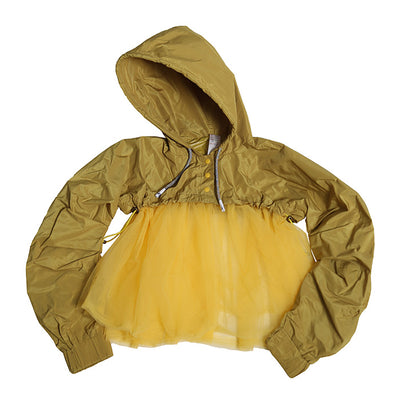 Tia Cibani Kids Child Margaretha Tulle Sweatshirt Ginger Yellow