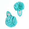 Tia Cibani Kids Raffia Pompom Hair Clip Mint Green