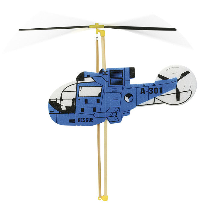 Vilac Rubber Band Powered Helicopter Blue