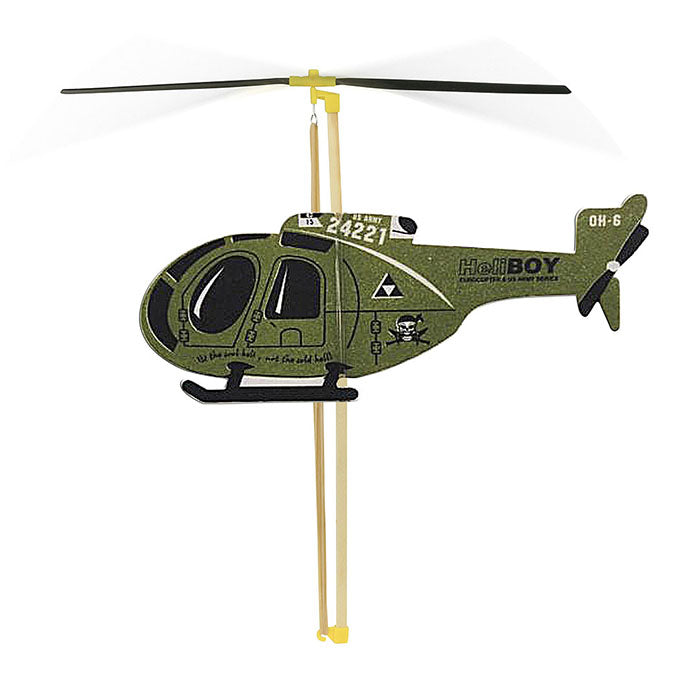Vilac Rubber Band Powered Helicopter Green