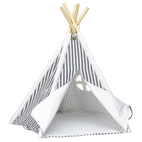 Vilac Mini Doll Teepee Blue Stripes