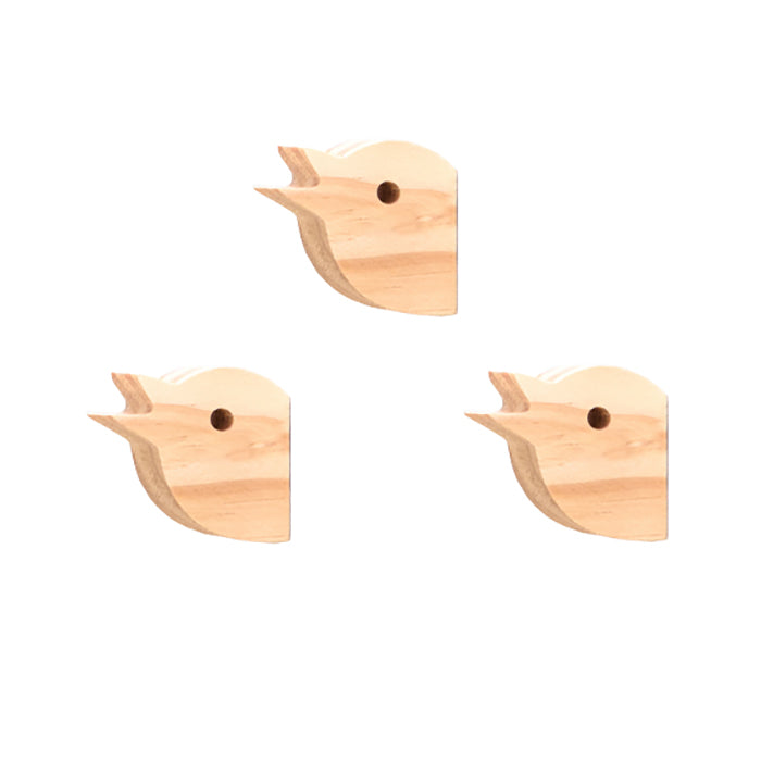 Bloomingville Set Of Three Chick Head Wall Hooks