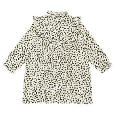 Bonton Child Penny Dress Beige Leopard Print