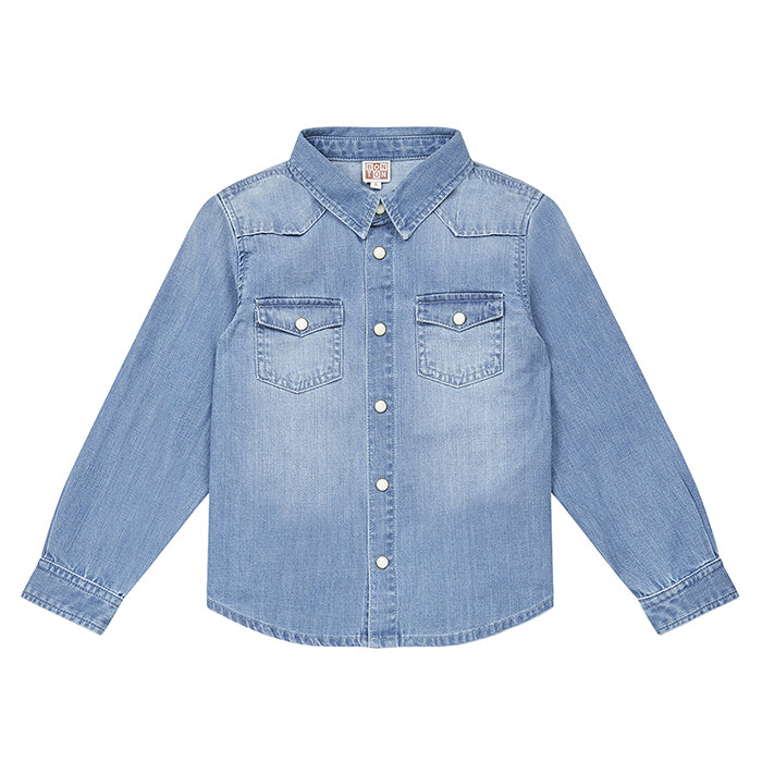 Bonton Child Saturday Shirt Denim Blue