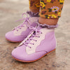 Misha & Puff Baby Scalloped Boots Lilac Purple