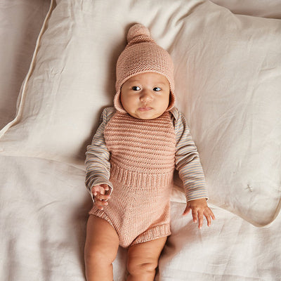 Misha & Puff Baby Sugar Maple Romper Faded Rose Pink