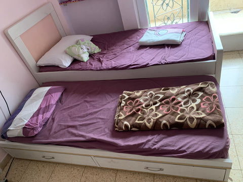 Girls' bed with trundle