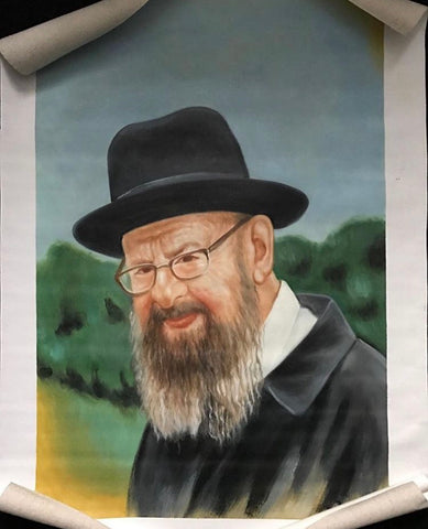 Oil Painting of Rav Avigdor Miller