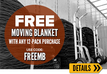 Free moving blankets with 12-pack purchase. Use code MBFREE.