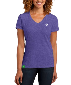 Ladies V-Neck - Heather Purple
