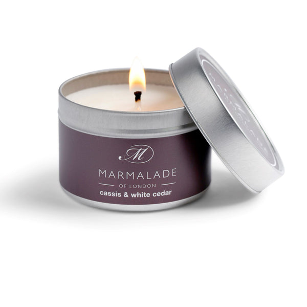 Marmalade Fine Fragrance Cassis & White Cedar Small Tin Candle