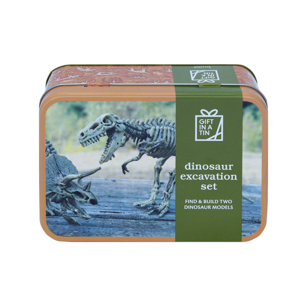 Gift in a Tin Dinosaur Excavation Set