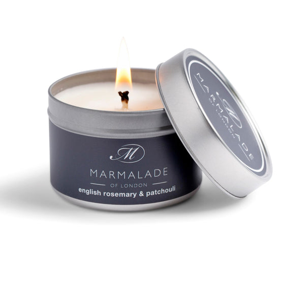 Marmalade Fine Fragrance English Rosemary & Patchouli Small tin candle