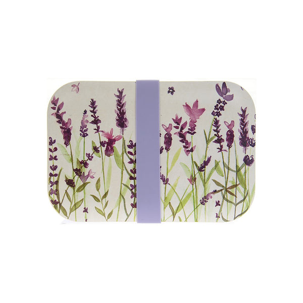 Lavender Design Bamboo Lunch Box