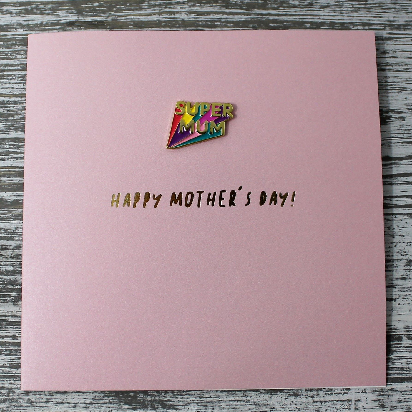 Mother's Day Card with Removable Brooch