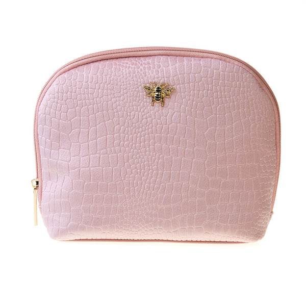 Large Make Up bag with Gold Bee motif