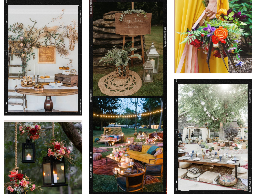 bohemian engagement party