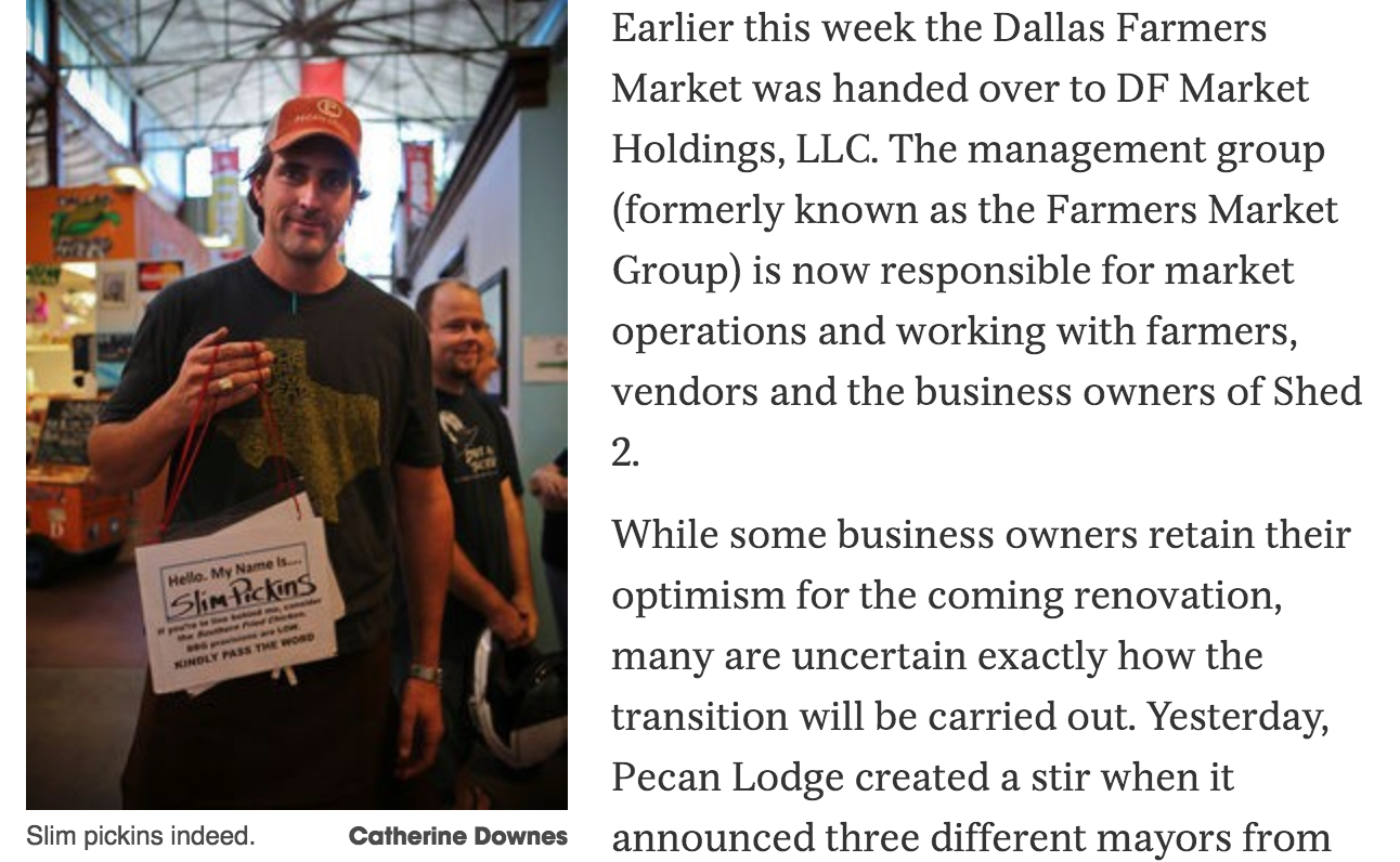 Dallas Observer - Justin Fourton from Pecan Lodge