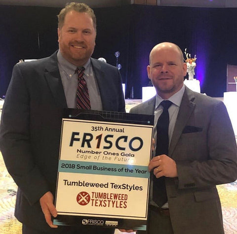 Tumbleweed TexStyles Small Business of The Year Frisco
