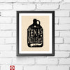 Texas Whiskey Y'all 11 x 14 Print - Tumbleweed TexStyles