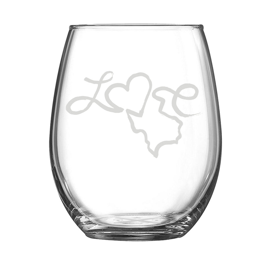Love - Stemless Wine Glass - Tumbleweed TexStyles