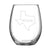 Wine. Texas - Stemless Wine Glass