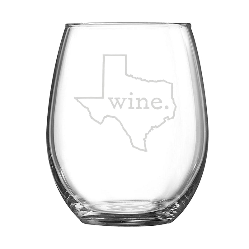 Wine. Texas - Stemless Wine Glass - Tumbleweed TexStyles
