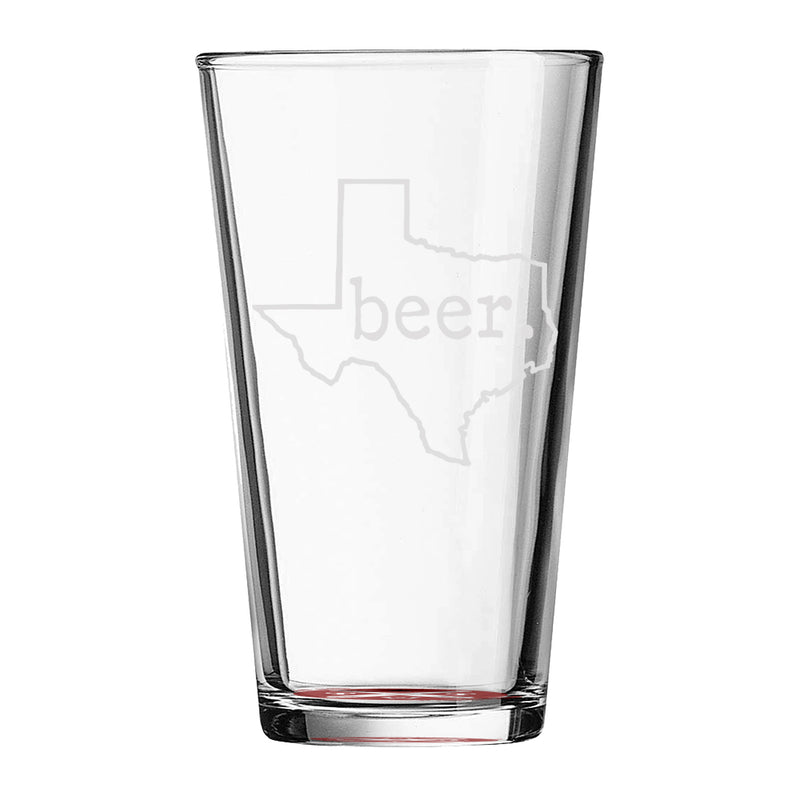 beer. Texas - Pint Glass - Tumbleweed TexStyles