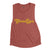 Texas Chica - Women's Muscle Tank (Smoked Paprika)