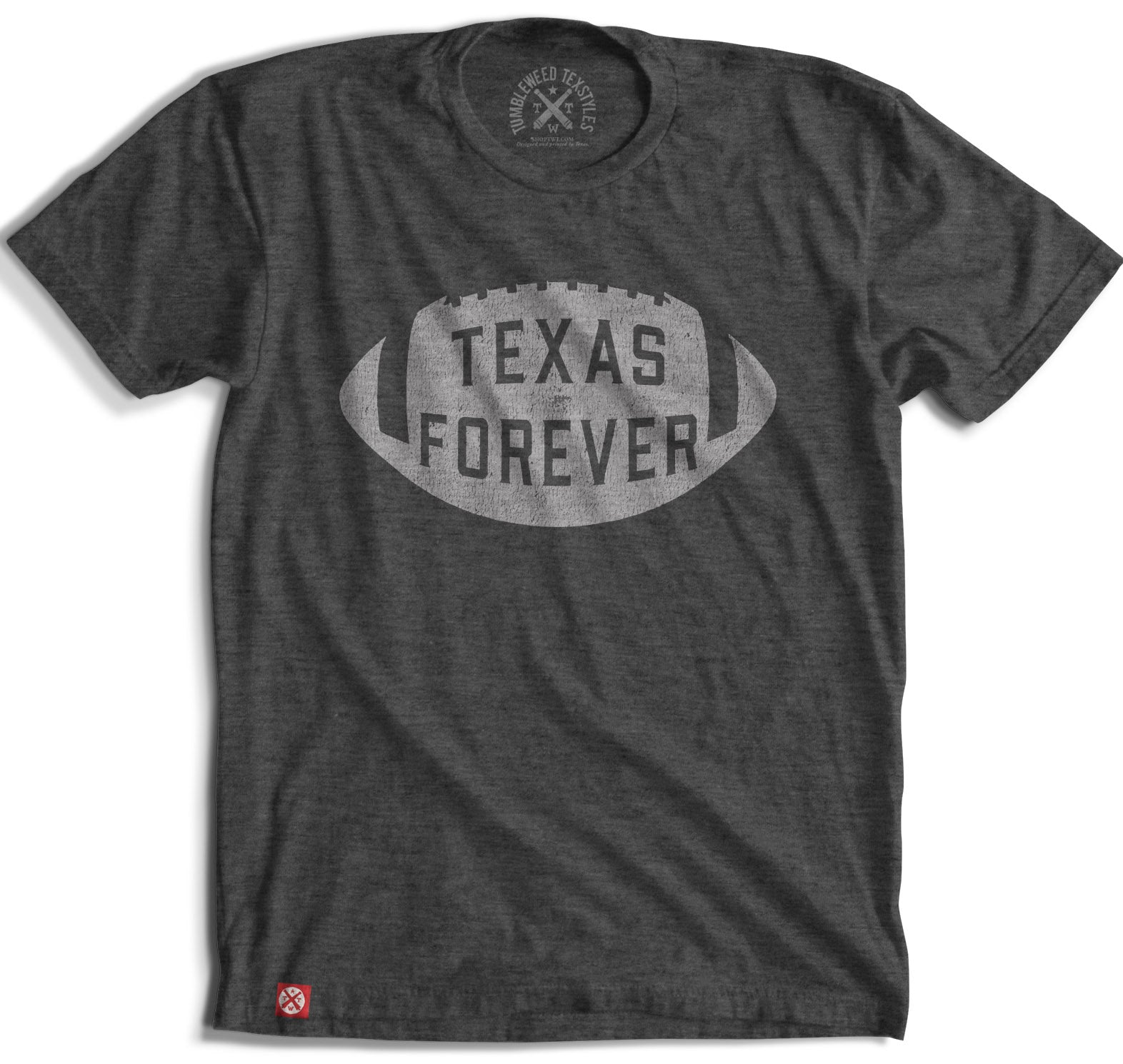 Texas Forever Football T-Shirt - Tumbleweed TexStyles