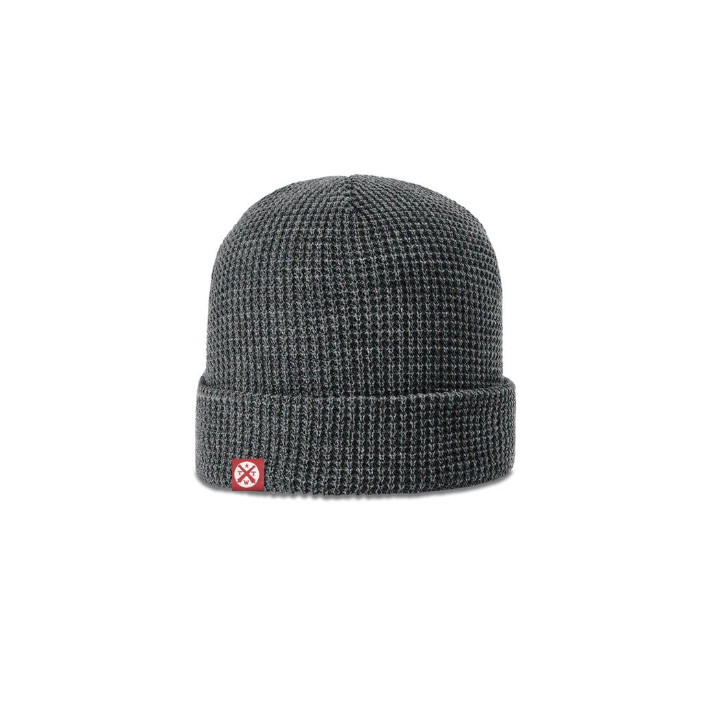 TWT Waffle Knit Beanie (Charcoal) - Tumbleweed TexStyles