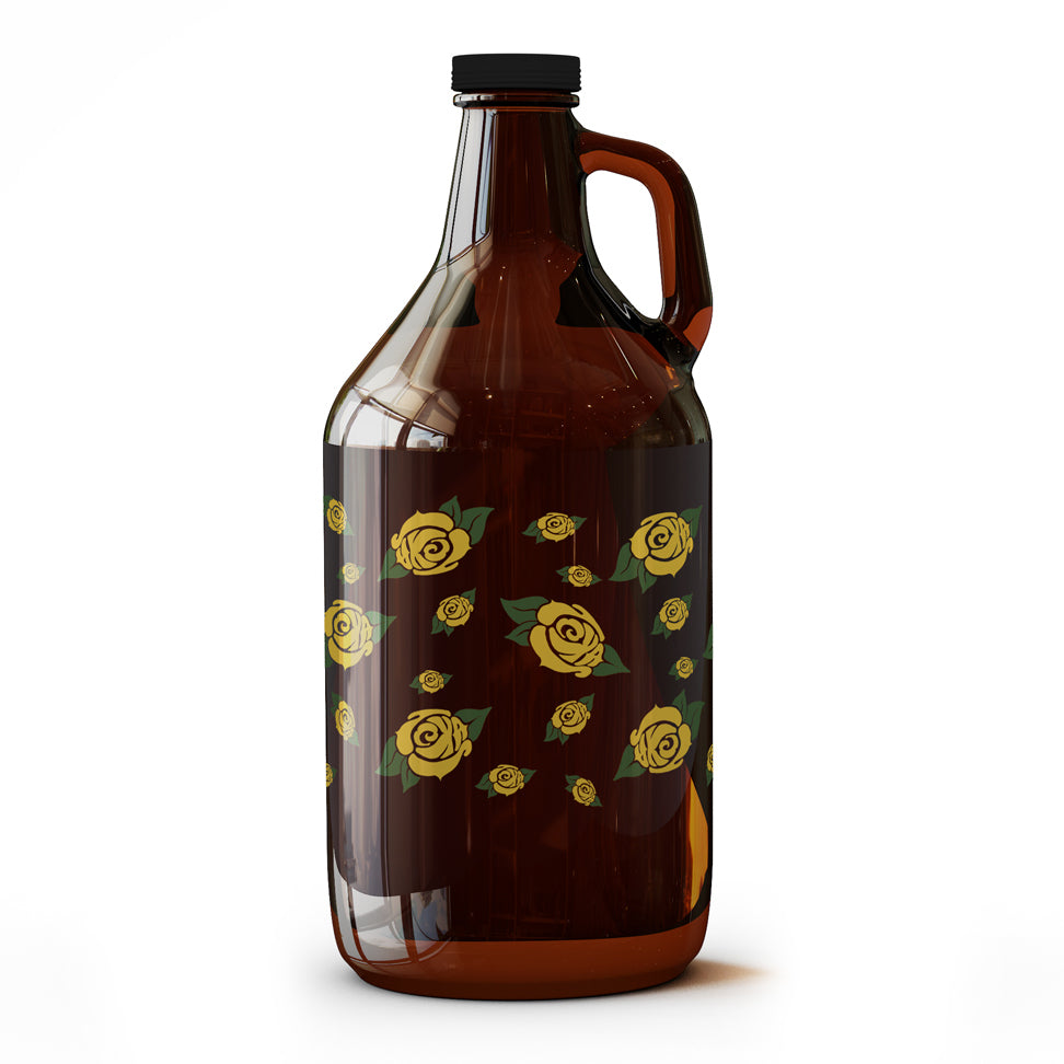Yellow Rose of Texas Pattern - 64 oz Growler