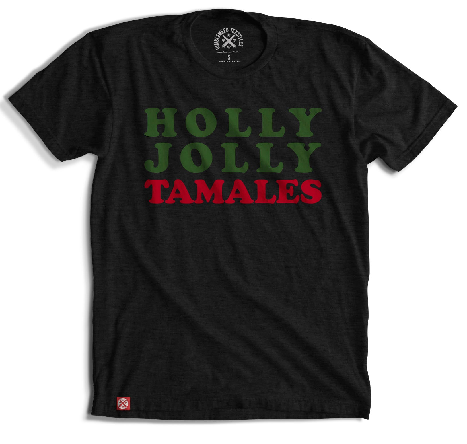 Holly Jolly Tamales T-shirt - Black
