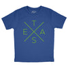 Big X T-Shirt (Royal) (Youth)