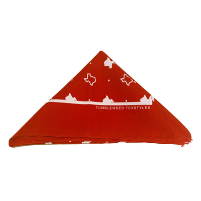 Texas Pattern Bandana (Red)