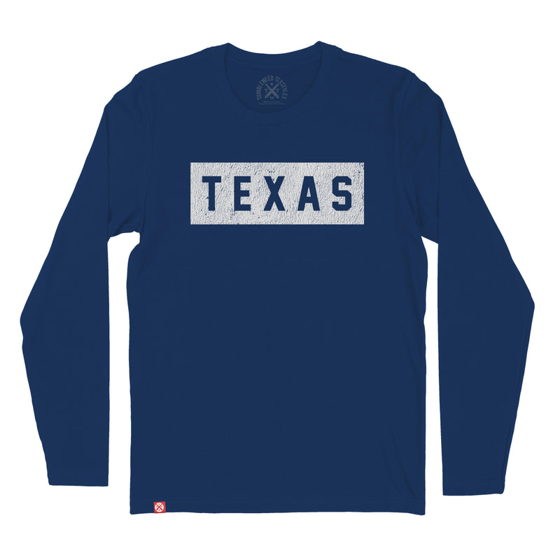 Block Texas Long Sleeve T-Shirt - Tumbleweed TexStyles