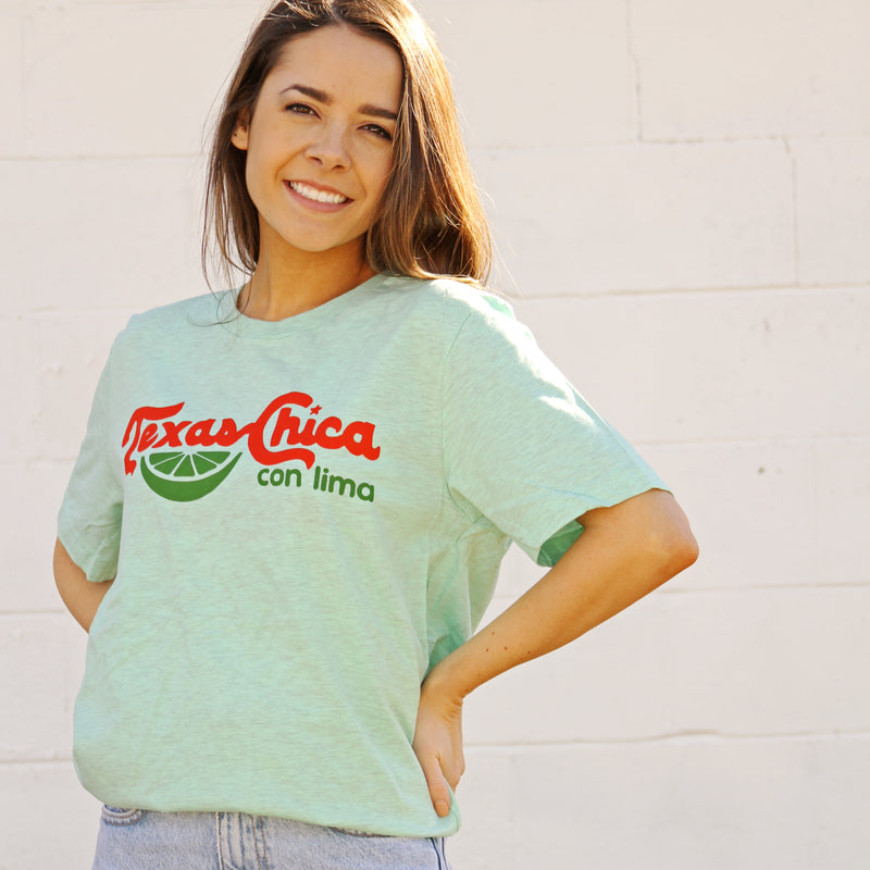 Texas Chica Con Lima T-Shirt - Tumbleweed TexStyles