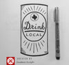Drink Local Texas 11 x 14 Print - Tumbleweed TexStyles