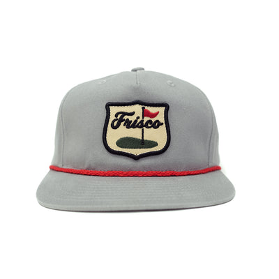 Frisco Golf Patch Grandpa Rope Hat Gray