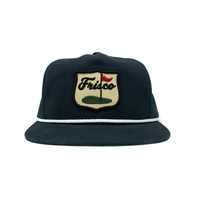 Frisco Golf Patch Grandpa Rope Hat Navy
