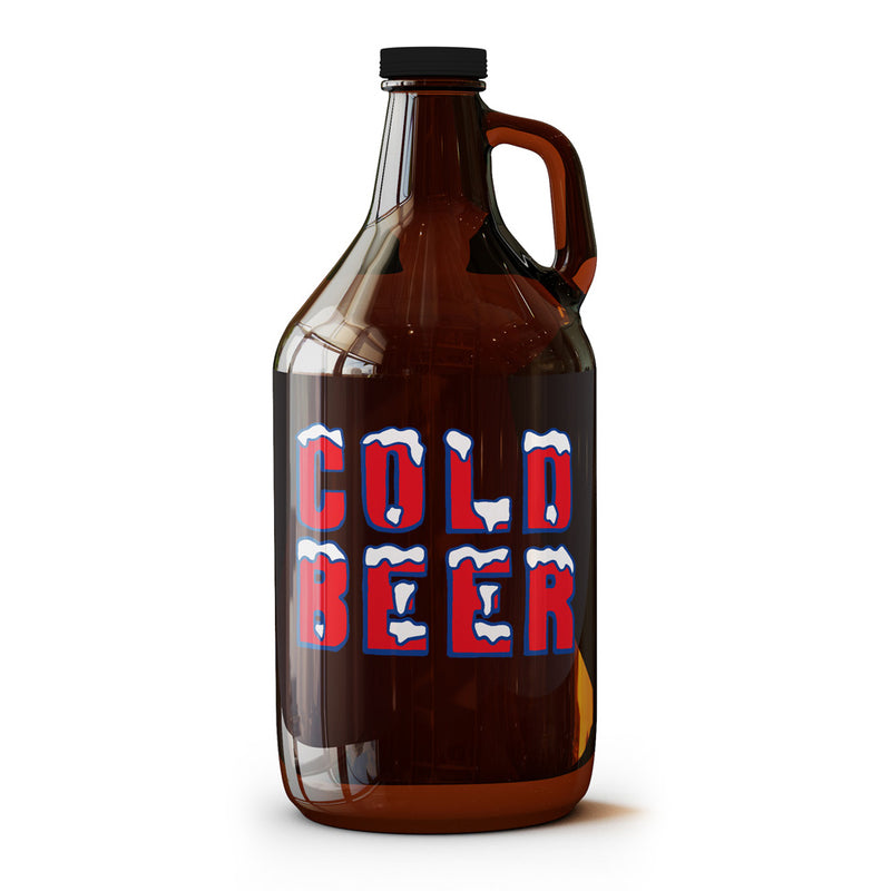 Cold Beer - 64 oz Growler - Tumbleweed TexStyles