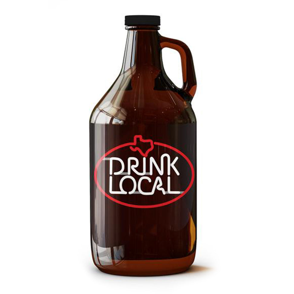 Drink Local Neon Sign - 64 oz Growler - Tumbleweed TexStyles