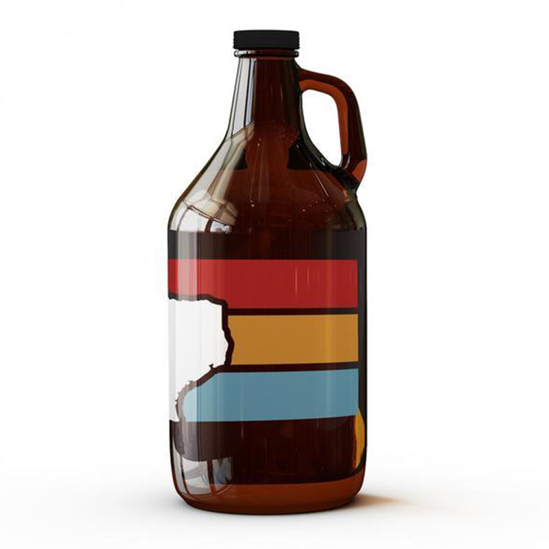 Stripes Texas - 64 oz Growler - Tumbleweed TexStyles