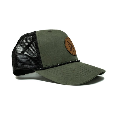 TWT Leather Logo Patch Trucker Hat