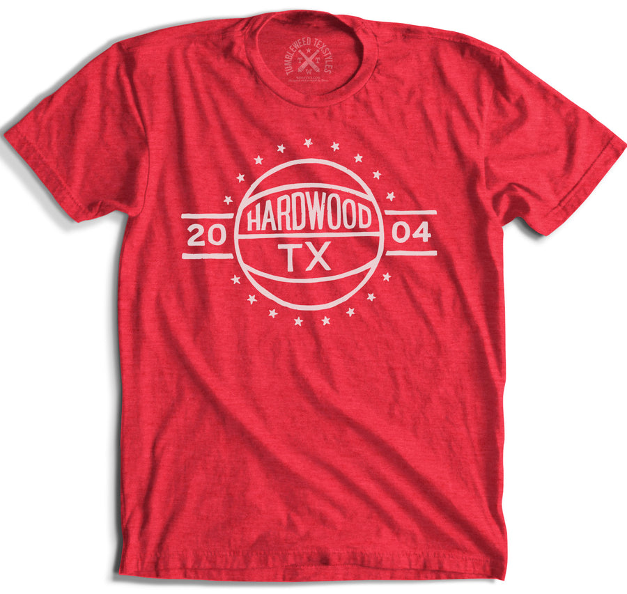 Hardwood, TX - Basketball T-shirt