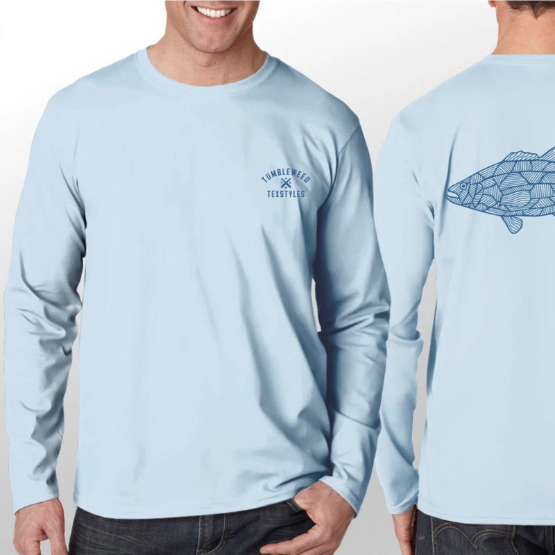 Line Fish Long Sleeve Performance Shirt