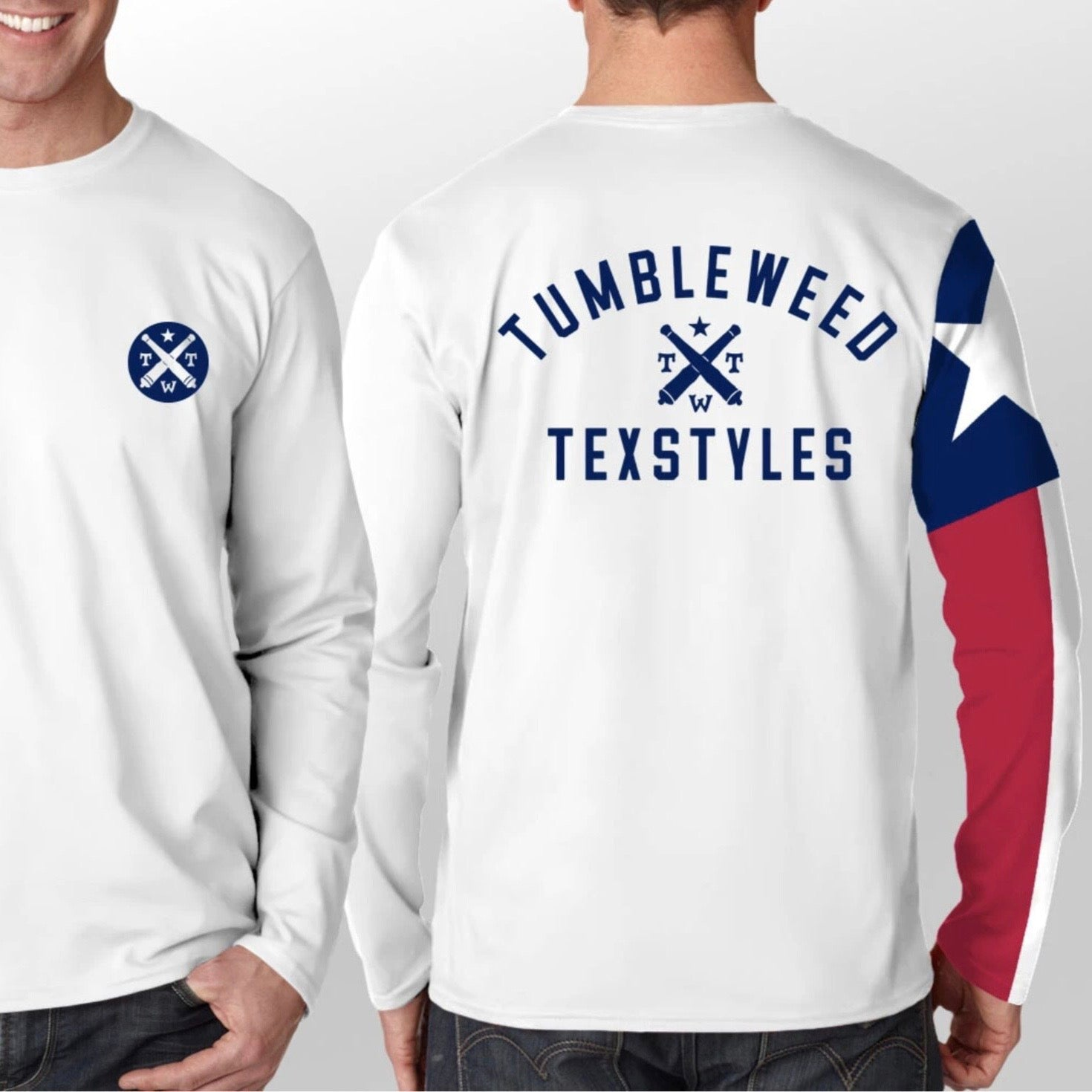 Texas Flag Long Sleeve Performance Shirt