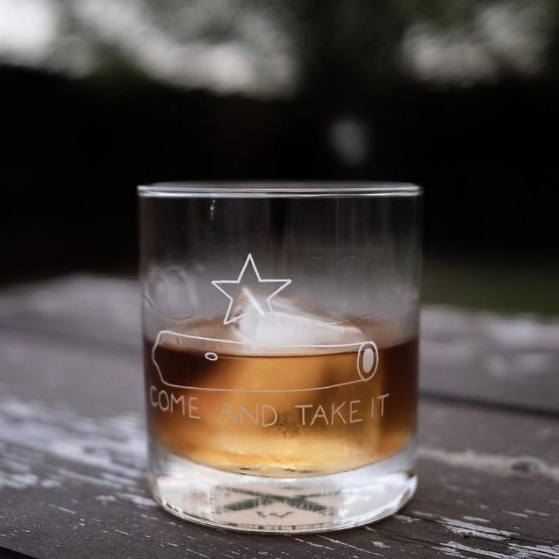 Come & Take It - Rocks / Old Fashioned Glass - 11 oz - Tumbleweed TexStyles