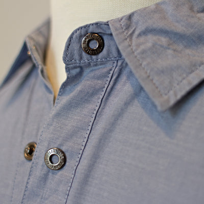 Hill Country Hybrid Polo (Chambray Blue)